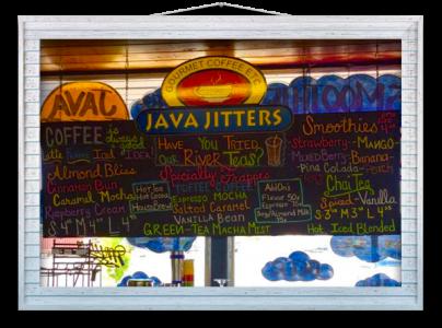 Java-Jitters-Menu-Board
